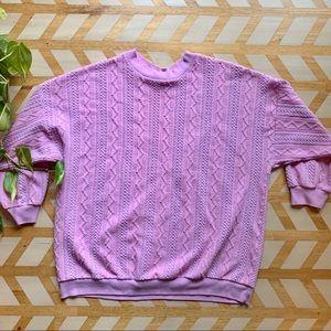 VTG   Bubblegum Pink Textured Sweater
